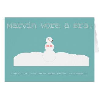 マーヴィン雪だるまの俳句の休日カード カード