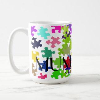 ミイラのジグソーパズルのマグ コーヒーマグカップ