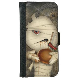 ミイラのハロウィンのおもしろいな衣裳 iPhone 6/6S ウォレットケース