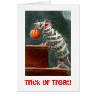 ミイラのマウス、トリック・オア・トリート! ハロウィンカード カード