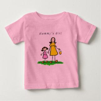 ミイラの女の子のTシャツ(ブルネット) ベビーTシャツ