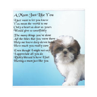 ミイラの詩-シーズー(犬)のTzuのデザイン ノートパッド