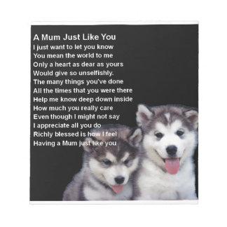 ミイラの詩-ハスキーな犬 ノートパッド