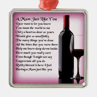 ミイラの詩-ワインのデザイン メタルオーナメント