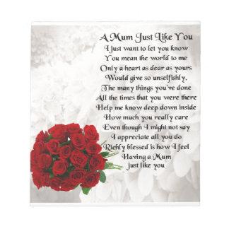 ミイラの詩-赤いバラ ノートパッド