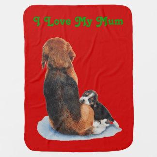 ミイラ犬の現実主義者の芸術のかわいい子犬のビーグル犬 ベビー ブランケット