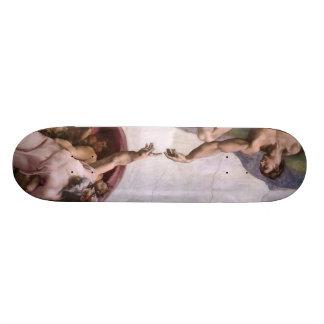 ミケランジェロのルネサンス芸術 18.1CM オールドスクールスケートボードデッキ