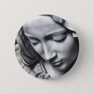 ミケランジェロの聖母マリアの顔のピエタの詳細 5.7CM 丸型バッジ