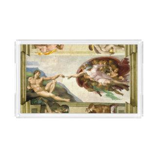 ミケランジェロの芸術によるアダムの作成 アクリルトレー