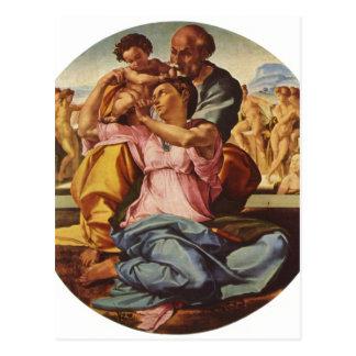 ミケランジェロBuonarrotiのHl。 Familie、Tondo 1504-15年 ポストカード