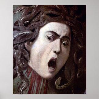 ミケランジェロCaravaggio著クラゲの頭部 ポスター