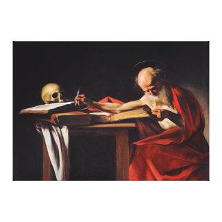 ミケランジェロCaravaggio著聖者のジェロームの執筆 キャンバスプリント