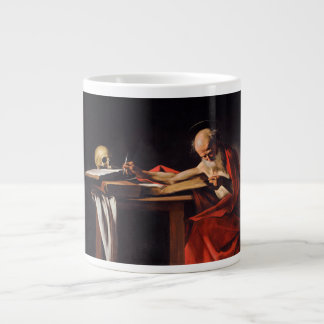 ミケランジェロCaravaggio著聖者のジェロームの執筆 ジャンボコーヒーマグカップ