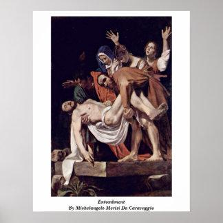 ミケランジェロMerisi Da Caravaggio著埋葬 ポスター