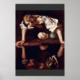 ミケランジェロMerisi Da Caravaggio著Narzis、 ポスター