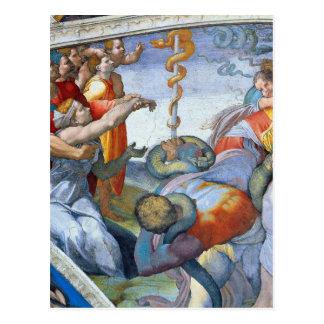ミケランジェロUnterberger著青銅色のヘビ ポストカード