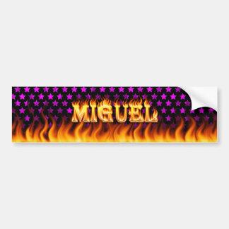 ミゲルの実質火および炎のバンパーステッカーは設計します バンパーステッカー