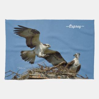 ミサゴおよび巣の台所タオル キッチンタオル