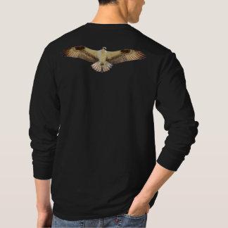 ミサゴのタカの開いた翼のワイシャツ Tシャツ