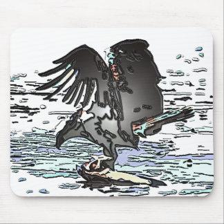 ミサゴの猛禽の鳥の野性生物動物の沼地 マウスパッド