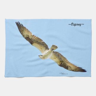 ミサゴの鳥の飛んでいるな台所タオル キッチンタオル