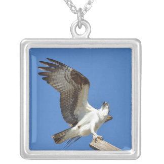 ミサゴまたはタカの翼はネックレスを伸ばしました シルバープレートネックレス