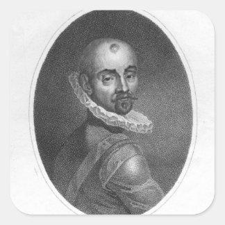 ミシェル・ド・モンテーニュのポートレート スクエアシール