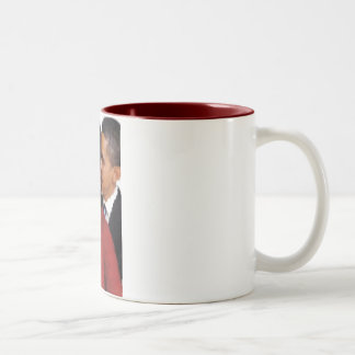 ミシェールおよびバラクの水彩画 ツートーンマグカップ
