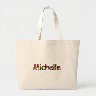 ミシェールの白いトートバック ラージトートバッグ