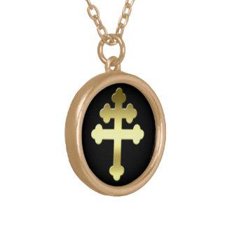 ミシェールのLoraineのフランス語Croixの十字 ゴールドプレートネックレス