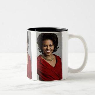 ミシェールオバマのコップ ツートーンマグカップ
