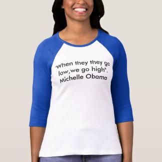 ミシェールオバマの引用文のワイシャツ Tシャツ