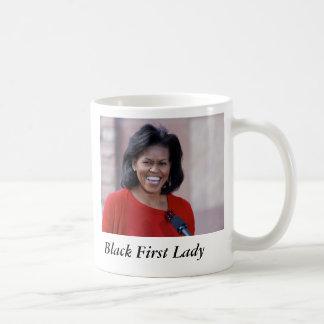 ミシェールオバマの黒の最初女性 コーヒーマグカップ