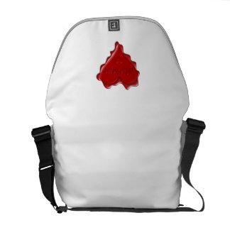 ミシェール。 一流のミシェールが付いている赤いハートのワックスのシール メッセンジャーバッグ