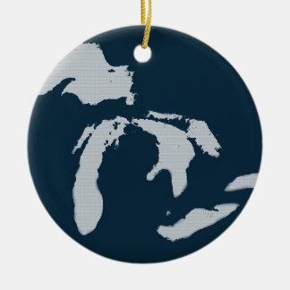 ミシガン州および五大湖 セラミックオーナメント