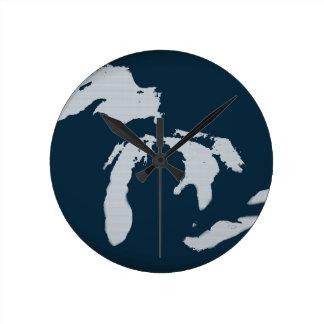 ミシガン州および五大湖 ラウンド壁時計