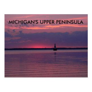 ミシガン州の上部の日の出 ポストカード