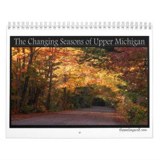 ミシガン州の上部半島の変更の季節 カレンダー