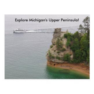 ミシガン州の上部半島の訪問抗夫の城 ポストカード
