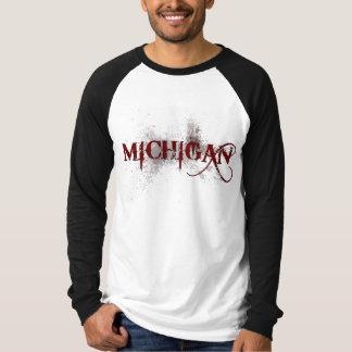 ミシガン州の出血のグランジなTシャツジャージー Tシャツ