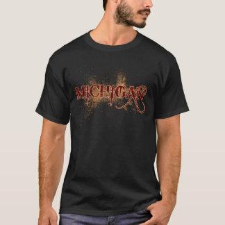 ミシガン州の出血のグランジなTシャツ Tシャツ