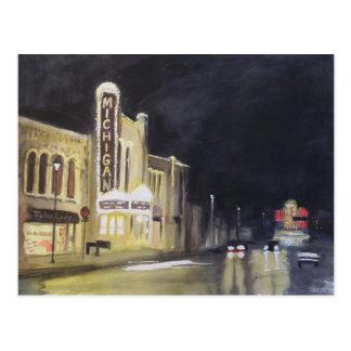 ミシガン州の劇場アナーバー ポストカード