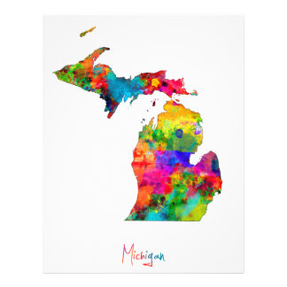 ミシガン州の地図 チラシ