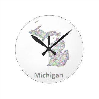 ミシガン州の地図 時計