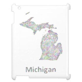 ミシガン州の地図 iPadケース