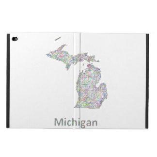 ミシガン州の地図 POWIS iPad AIR 2 ケース