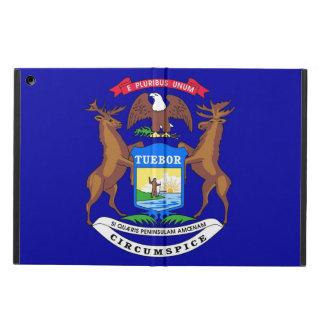 ミシガン州の旗との愛国心が強いipadの場合 iPad airケース