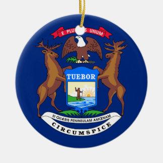 ミシガン州の旗 セラミックオーナメント
