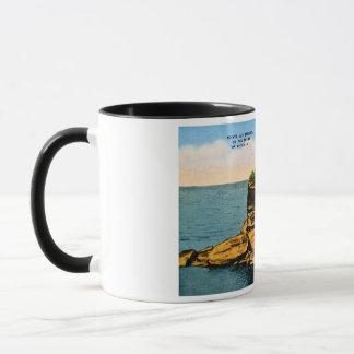 ミシガン州の親指のPointeの補助のバーク マグカップ