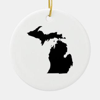 ミシガン州の輪郭 セラミックオーナメント